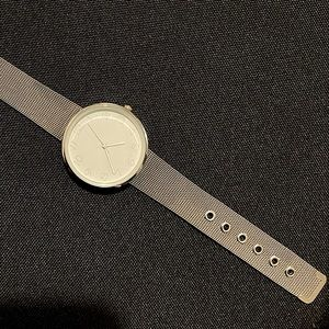 Simple Dainty Stainless Steel Mesh Silver Watch